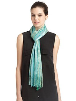 Missoni - Classic Wave Fringe Scarf/Green