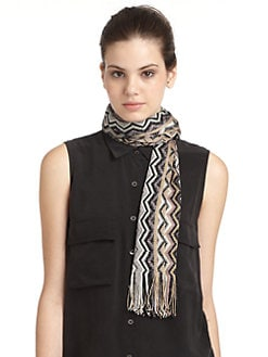 Missoni - Metallic Chevron Fringe Scarf