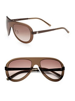 Givenchy - Oval Shield Sunglasses/Brown