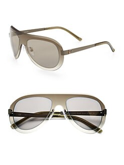 Givenchy - Oval Shield Sunglasses/Green