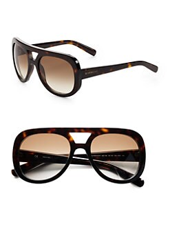 Givenchy - Aviator Resin Sunglasses/Havana Brown
