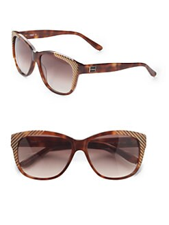 Chloe - Cat's-Eye Striped Acetate Sunglasses