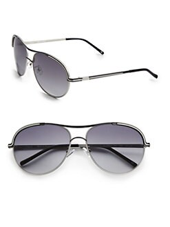 Chloe - Metal Aviator Sunglasses