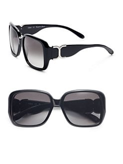 Chloe - Oversized Square Acetate Sunglasses/Black