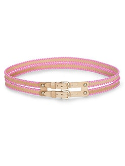 Rebecca Taylor - Alma Whipstitched Double Belt/Pink