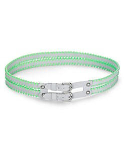 Rebecca Taylor - Alma Whipstitched Double Belt/Green