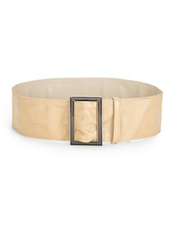 Costume National - Wide Leather Belt/Beige