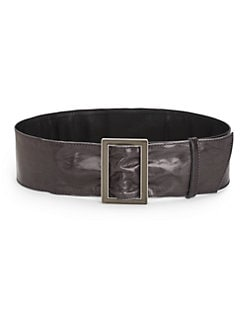 Costume National - Wide Leather Belt/Black