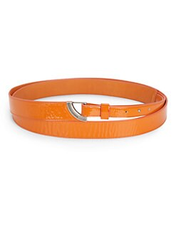 Costume National - Double Wrap-Around Patent Leather Belt