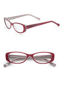 Judith Leiber - Floral Cat's-Eye Acetate Readers