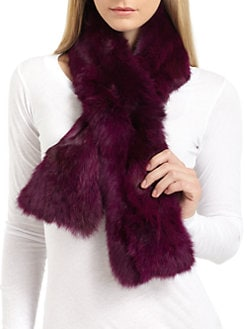 Adrienne Landau - Rabbit Fur Pull-Through Scarf