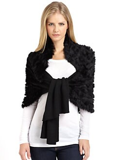 Adrienne Landau - Rabbit Fur Knit Stole