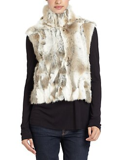 Adrienne Landau - Natural Rabbit Fur Vest