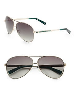 Judith Leiber - Chanel Metal Aviator Sunglasses