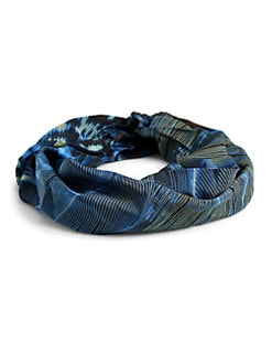 Roberto Cavalli - Silk Satin Tribal Belt/Blue