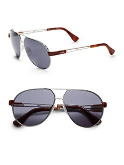 Tod's - Large Metal Navigator Sunglasses