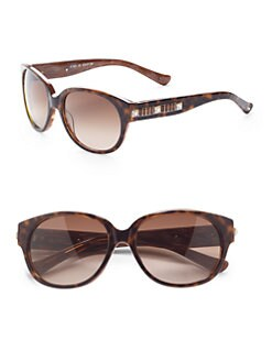 Judith Leiber - Channel Acetate Sunglasses