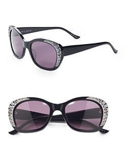 Judith Leiber - Deja Vu Cat's-Eye Sunglasses