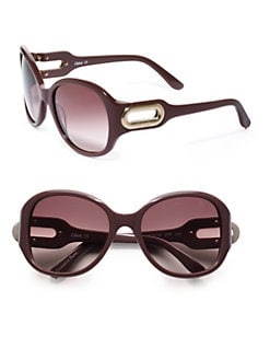 Chloe - Oval Acetate Sunglasses