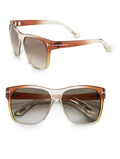 Tom Ford Eyewear - Frederico Wayfarer Sunglasses/Brown