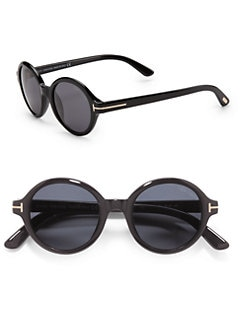 Tom Ford Eyewear - Carter Round Sunglasses/Black