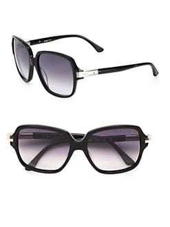 Chloe - Rounded Square Acetate Tubular Sunglasses