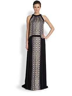 Philosophy - Silk Python Print Maxi Dress