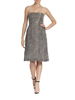Philosophy - Strapless Organza Jacquard Dress