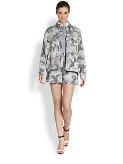 Philosophy - Printed Denim Jacket