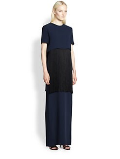 Adam Lippes - Fringed Crepe Gown