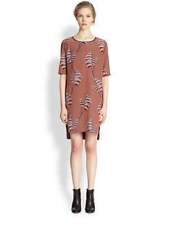 Veronica Beard - Silk Wheatfield-Print Tunic Dress