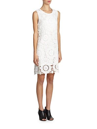 Cotton Floral-Crochet Dress