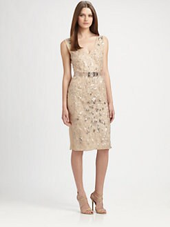 Philosophy - Beaded Organza Dress