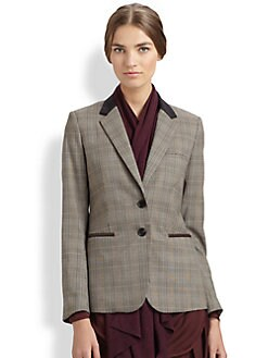 Veronica Beard - Glen Plaid Dickey Jacket