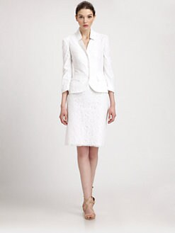 Philosophy - Circle Mesh-Overlay Cotton-Blend Blazer