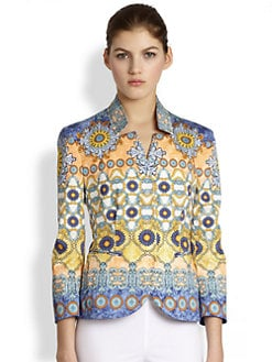Philosophy - Printed Stretch Cotton Blazer