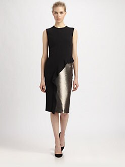 Philosophy - Sequined Panel Sable Dress