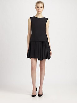 Philosophy - Drop-Waist Wool Crepe Dress