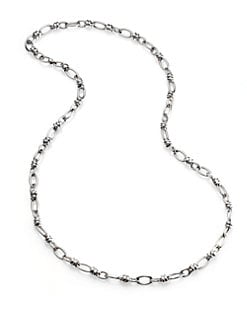 Pomellato 67 - Sterling Silver Ringed Chain Link Necklace