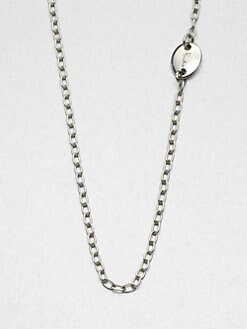 Pomellato 67 - Long Sterling Silver Chain Link Necklace/39