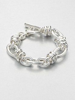 Pomellato 67 - Sterling Silver Ringed Chain Link Bracelet
