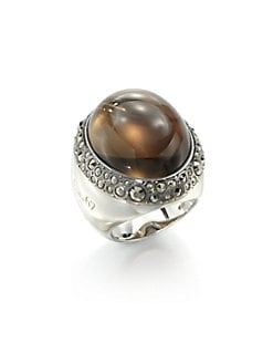Pomellato 67 - Sterling Silver Cabochon Ring/Marcasite