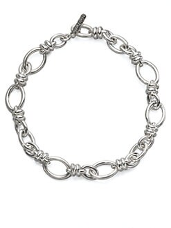 Pomellato 67 - Sterling Silver Rondelle Link Necklace