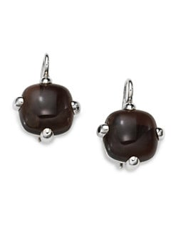 Pomellato 67 - Quartz & Sterling Silver Square Drop Earrings
