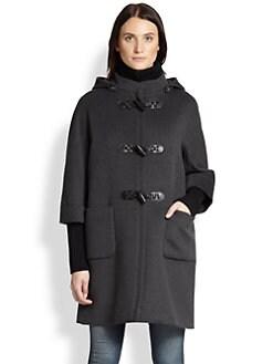 Cinzia Rocca - Wool Knit-Trim Toggle Coat
