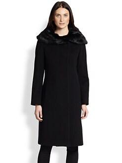 Cinzia Rocca - Fur-Collar Walking Coat