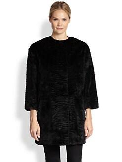 Dawn Levy - Catina Textured Rabbit Fur Jacket