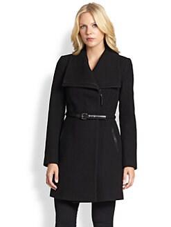 Mackage - Belted Funnel-Collar Coat