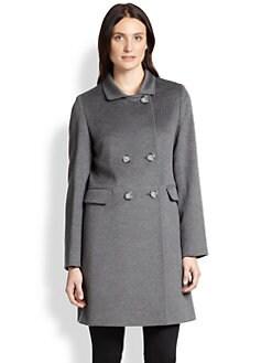 Cinzia Rocca - Wool Double-Breasted Walking Coat