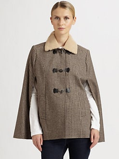 Cole Haan - Plaid Wool Capelet